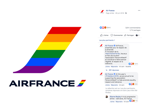 Logo Air France aux couleurs LGBT